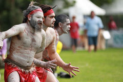 Aboriginal dancers Stock Images
