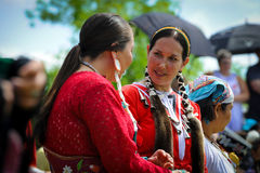 Aboriginal day live celebration In Winnipeg stock images