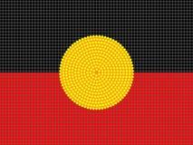 aboriginal designflagga Arkivfoto