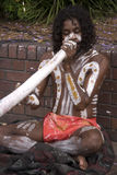 Aboriginal and didgeridoo Royalty Free Stock Photography