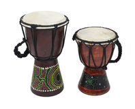 Aboriginal Djembe Drums Royalty Free Stock Photography