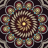 Aboriginal dot art background - Vector Illustration. Aboriginal dot art background. Illustration based on aboriginal style of dot painting Stock Illustration