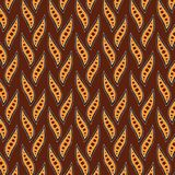 Aboriginal dot art background with leaves - Vector. Illustration Royalty Free Stock Photography