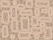 Aboriginal Dot Art Design. Seamless background aboriginal style symbolic design Stock Illustration