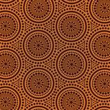 Aboriginal dot art seamless background. Vector illustration Stock Illustration