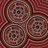 Aboriginal dot art vector background. Connection concept stock illustration