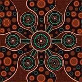 Aboriginal dot art vector background. Connection concept vector illustration