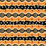 Aboriginal dot art vector background. Illustration Stock Illustration