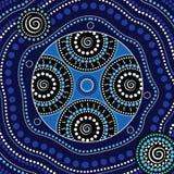 Aboriginal dot art vector background. Dot concept stock illustration