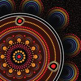 Aboriginal dot art vector background. Dot concept vector illustration