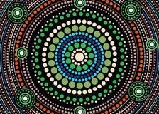 Aboriginal dot art vector background. Aboriginal dot art background-Vector illustration vector illustration