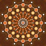 Aboriginal dot art vector background. Illustration stock illustration