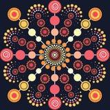 Aboriginal dot art vector background. Illustration royalty free illustration