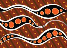 Aboriginal dot art vector background. Illustration Royalty Free Illustration
