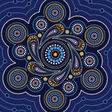 Aboriginal dot art vector painting. Dot concept royalty free illustration