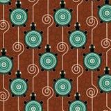 Aboriginal dot art vector pattern background. With turtle stock illustration