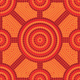 Aboriginal dot painting in format. Abstract Aboriginal dot painting in format stock illustration