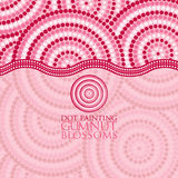 Aboriginal dot painting in vector format. Abstract Aboriginal dot painting in vector format Stock Images