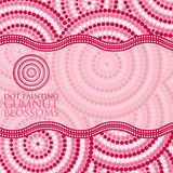Aboriginal dot painting in vector format. Abstract Aboriginal dot painting in vector format Stock Photo