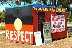 Aboriginal Embassy, Canberra, Australia Stock Photo