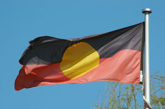 Aboriginal flag Royalty Free Stock Photo