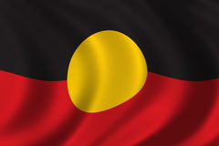 Aboriginal Flag. Waving in the wind Stock Photography