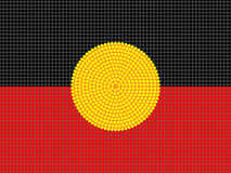 Aboriginal Flag Design Stock Photo