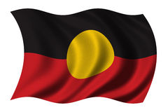 aboriginal flagga Royaltyfri Foto