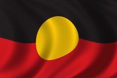 aboriginal flagga Arkivbild