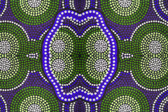 Aboriginal garment in detail. Close-up, dots Royalty Free Stock Images