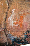 Aboriginal graffiti. At australian national park, northern territory stock illustration