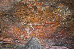Aboriginal graffiti. At australian national park, northern territory royalty free illustration