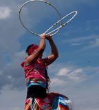 Aboriginal Hoop Dancer At Heritage Days Edmonton Alberta 2013 Stock Photos