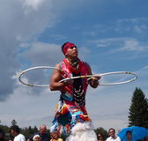Aboriginal Hoop Dancer At Heritage Days Edmonton Alberta 2013 Royalty Free Stock Photography