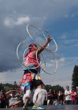 Aboriginal Hoop Dancer At Heritage Days Edmonton Alberta 2013 Royalty Free Stock Photos