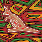 Aboriginal Kangaroo Royalty Free Stock Photo