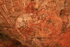 aboriginal konstAustralien rock royaltyfri foto