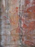 aboriginal målningsrock Royaltyfria Foton