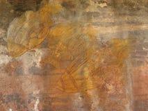aboriginal målningsrock Royaltyfri Bild