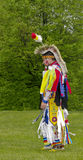 Aboriginal Man in Regalia Royalty Free Stock Photo