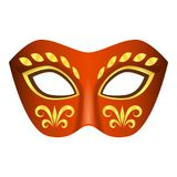 Aboriginal mask icon, realistic style. Aboriginal mask icon. Realistic illustration of aboriginal mask vector icon for web Stock Image