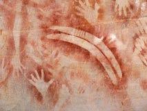 aboriginal målningsrock Royaltyfri Foto