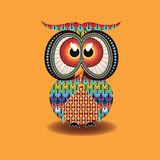Aboriginal Owl Vector. Illustration based on aboriginal style of dot owl Royalty Free Stock Images