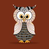 Aboriginal Owl Vector. Royalty Free Stock Photos