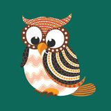 Aboriginal Owl Vector. Illustration based on aboriginal style of dot owl Stock Illustration