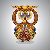Aboriginal Owl Vector. Illustration based on aboriginal style of dot owl Royalty Free Stock Photos
