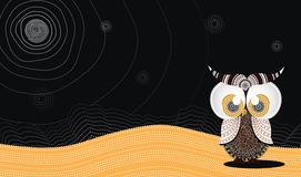 Aboriginal Owl Vector. Illustration based on aboriginal style of dot owl Royalty Free Stock Photo