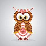 Aboriginal Owl Vector. Illustration based on aboriginal style of dot owl Stock Photography