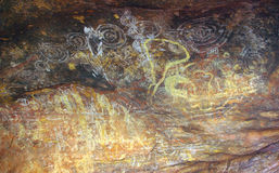 Aboriginal painting - Uluru, Australia Royalty Free Stock Images