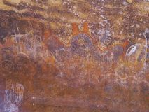 Aboriginal paintings at Ayers rock Royalty Free Stock Images